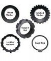Stage 8 X-Lock spindle nut sets for Dana 60